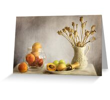 Apricots and poppies Greeting Card