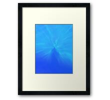 Silhouette through water Framed Print