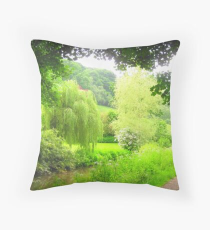 Weeping Willow of Wales Throw Pillow