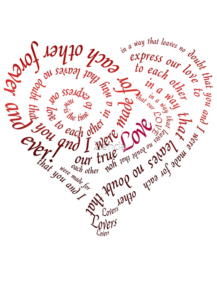 Quot heart calligraphy by zehda redbubble
