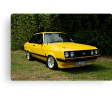 Ford Escort MK2 RS 2000 yellow Canvas Print