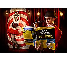 knife throwing for dummies Photographic Print
