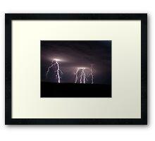 mighty strikes Framed Print