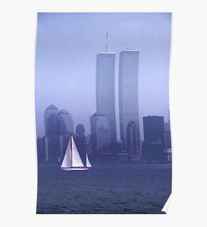 """A Simpler Day"" - New York City Pre-2001 Poster"