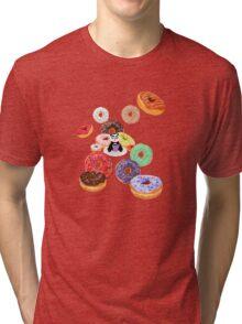 Panda & Donuts Tri-blend T-Shirt