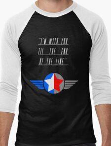 Till the End of the Line (white text) Men's Baseball ¾ T-Shirt