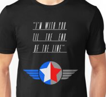 Till the End of the Line (white text) Unisex T-Shirt