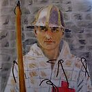 Agincourt Longbowman by Hilary Robinson