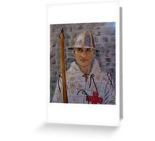 Agincourt Longbowman Greeting Card