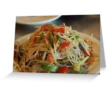 Thai salad Greeting Card
