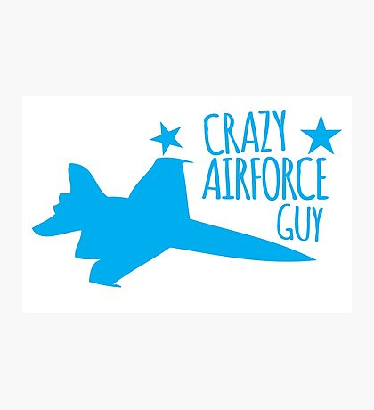 Crazy Airforce guy Photographic Print