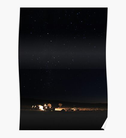 Southern Cross over Blue Valley Poster