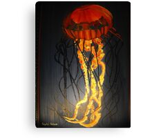 Jellyfish Oil Painting Canvas Print