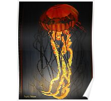 Jellyfish Oil Painting Poster