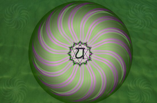 Heart Chakra ~ Green ~ Anahata ~ Female by Julia Harwood