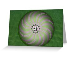 Heart Chakra ~ Green ~ Anahata ~ Female Greeting Card