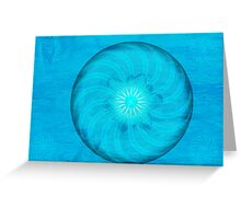 Throat Chakra ~ Blue ~ Vishudah ~ Female Greeting Card