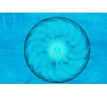 Throat Chakra ~ Blue ~ Vishudah ~ Female Photographic Print