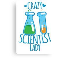 Crazy Scientist lady Canvas Print