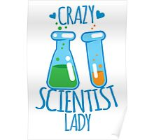 Crazy Scientist lady Poster
