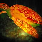 Spotlight Sea Turtle Among Shadows by Crystal Fobare