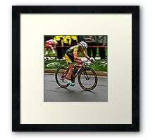 Racing for the Win Framed Print
