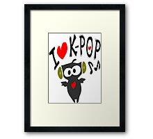 I love kpop owl vector art Framed Print