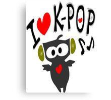 I love kpop owl vector art Canvas Print