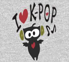 I love kpop owl vector art One Piece - Short Sleeve