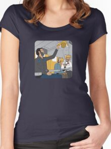 Telecom Short Round Women's Fitted Scoop T-Shirt