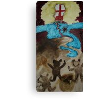 Ugly blond Canvas Print