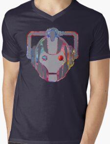 Cyber-Upgraded Mens V-Neck T-Shirt