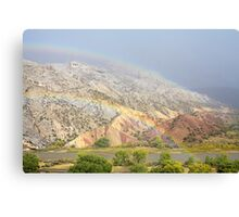 Double Rainbow at Split Mountain Canvas Print