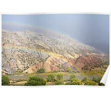 Double Rainbow at Split Mountain Poster
