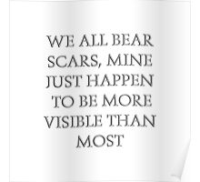 We all bear scars Poster