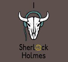 Sherlock - Cow skull (black text) Unisex T-Shirt