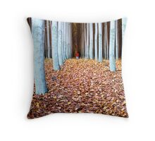 Down the crack Throw Pillow
