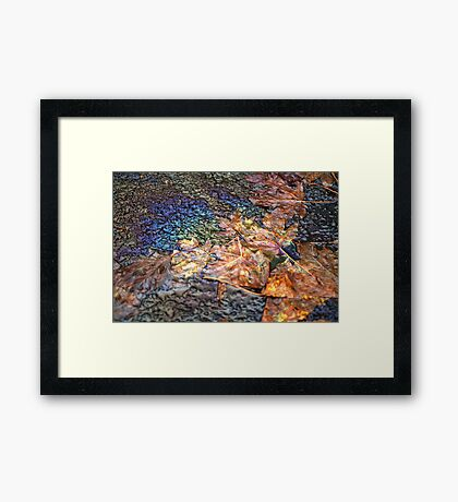 human on nature Framed Print