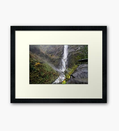 mountain of water Framed Print