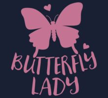 Butterfly Lady in pink One Piece - Short Sleeve