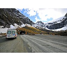 Entrance To The Homer Tunnel. South Island, New Zealand. Photographic Print