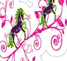Colorful fantasy,unicorns Sticker