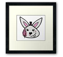 Bunny brains in formal wear Framed Print