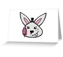 Bunny brains in formal wear Greeting Card