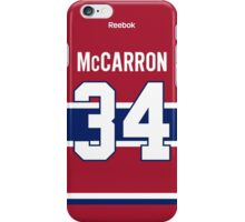 Montreal Canadiens Michael McCarron Jersey Back Phone Case iPhone Case/Skin