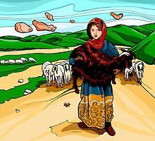 Afghan Girl by Iliad Terra