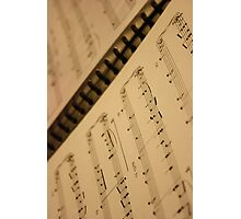 musical notes Photographic Print