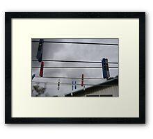 the suburban sky Framed Print
