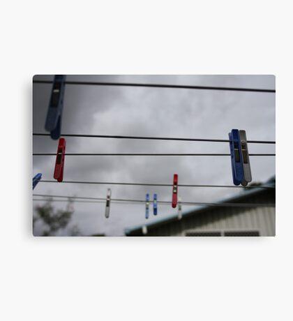 the suburban sky Canvas Print