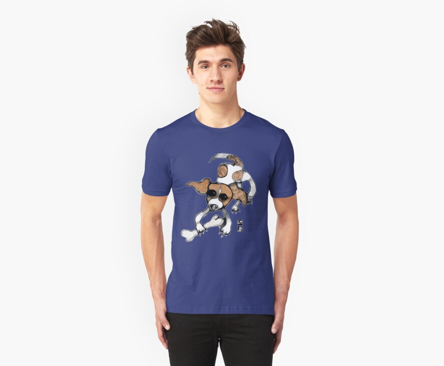 puppy playing tee by genevievem
